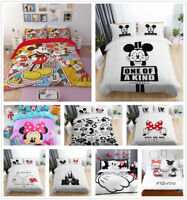 Cartoon Disney Mickey Mouse Minnie Duvet Cover Quilt Cover Bedding Set Pillowcas