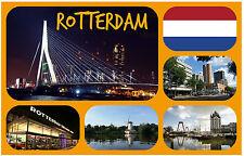 ROTTERDAM, NETHERLANDS - SOUVENIR NOVELTY FRIDGE MAGNET - SIGHTS / FLAG / GIFTS