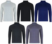 MENS ROLL NECK LONG SLEEVE COTTON TOP POLO NECK TURTLE NECK BNWT
