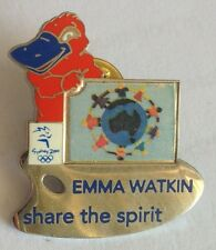Emma Watkin Share The Spirit Sydney 2000 Olympics Pin Badge Rare Vintage (F1)