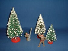 Barclay WWII Pod Foot American Hollow Lead Toy Soldiers (2)