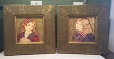 Pair of THE BOMBAY COMPANY Florentine Girl I & II Prints Framed Wall Decor