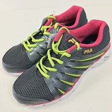 Fila Coolmax DLS Foam Womens 7.5 Pastel Pink Green Metallic Gray Running Shoes
