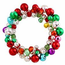 CHRISTMAS Multi Color Jingle Bells Stretch Charm Bracelet