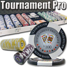 New 500 Tournament Pro 11.5g Clay Poker Chips Set w/ Aluminum Case - Pick Chips!