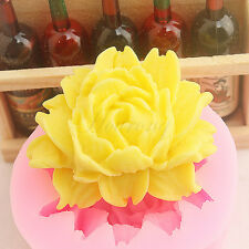 3D Rose Flower Silicone Fondant Mold Cake Decor Chocolate Sugarcraft Mould Tool
