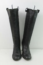RUSSELL&BROMLEY Black Leather Tall Boots Size Eu 37.5
