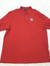 Red Houston Polo Alumni~Man's Tall Size XXL~100% Cotton  UH Cougar Shirt.