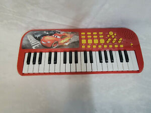 """First Act Disney Pixar Cars Piano Electric Keyboard 19"""" Toy"""