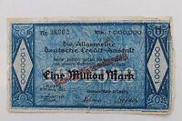 26496 Billet de Banque 1 Million Mark Credit Anstalt Leipzig 1923 Dresde
