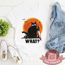 What Shirt Funny Cat Halloween T-shirt Cat Lover Owner Halloween Tee Gift For Me