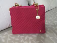 2c04f877c Bally Pink canvas n leather tote bag handbag chunky gold fittings Lovely  Italy