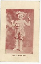 """""""Little Edna Mae"""" Antique Sideshow Dwarf? Actress? PC-Sized Arcade Card—Circus"""