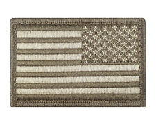 Reverse USA American Flag Subdued Hook & Loop Embroidered Morale Tags