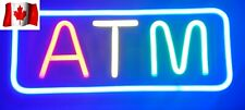 20'' ATM Neon Sign LED Tube Handmade Visual Artwork Bar Club Wall Decor FRE SHIP