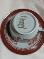 Spode's Copeland Red Fitzhugh Fine Stone Short Cup And Saucer Made In England