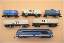 LOT JOUEF HO LOCOMOTIVE SNCF BB 67007  + 5 WAGONS STEF & FINA TRAIN ELECTRIQUE