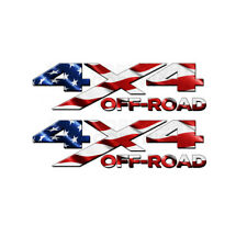 4x4 Off Road American Flag TRUCK USA Decal/Sticker! JEEP GM CHEVY GMC DODGE FORD