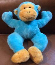 """10"""" Baby Gund Aqua Blue Dandy Monkey Plush Stuff Animal Lovey Baby Boy Girl Toy"""