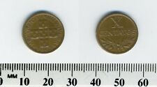 Portugal 1962 - 10 Centavos Bronze Coin - Circles within cross
