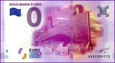 UE DY-1 / SOUS-MARIN FLORE / BILLET SOUVENIR 0 € / 0 € BANKNOTE 2016-1