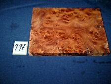 Rüster Maser Ulmenmaser Schmuckholz  Edelholz  155 x 114 x 15 mm    Nr. 997