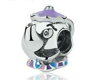 Disney Charm Mrs Potts beauty and beast  Bead charm Fit European Bracelet 127