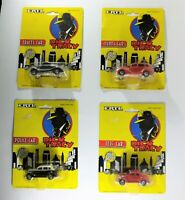 1990 x 4 ERTL Dick Tracy, Police, Tess' Car and Itchy's Car 1:64 scale die cast