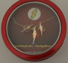 The Flash Logo Dc Comics Necklace and Earrings Gift Tin Set Nwt
