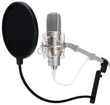 PROFESSIONAL CONDENSER PODCAST MICROPHONE DJ MIC ANTI POP FILTER BAG SHOCKMOUNT