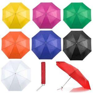 "Mini Folding Compact Pocket Umbrella 38"" Telescopic Wedding Lightweight Brolly"