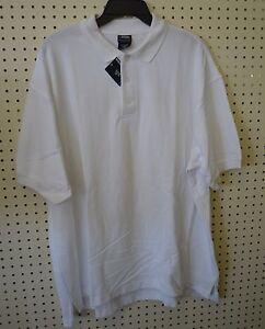 French TOAST POLO Shirt White Large X LARGE XL Short Sleeve UNIFORM HUSKY Tail