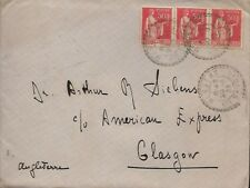 FRANCE - 1933 COVER FROM MESSERY TO GLASGLON