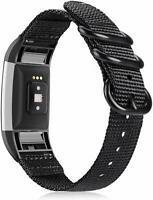 For Fitbit Charge 2 Replacement Band Soft Woven Nylon Sport Wristband Strap