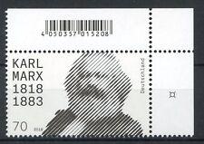 Bund/BRD 3384 Ecke 2 (70) -Karl Marx- ** Postfrisch 2018