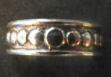 Solid Silver Toe Ring X 1; *Bn* circle design *strong, sturdy ring*