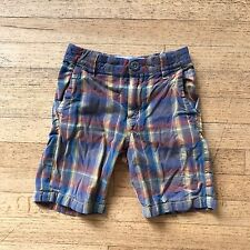Tucker + Tate NORDSTROM Brown Madras Plaid Adjustable Waist Shorts Sz 4
