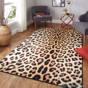 Classic Sexy Wild Leopard Print Carpet Brown Ground Mat Parlor Carpet Bedroom