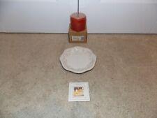 * Longaberger * Vintage Vine Pottery (Candle Holder) + Candle (Black Rasberry)