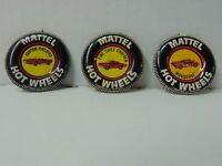Lot of 3 Hot Wheels Redline Collector Buttons - Mongoose, Fire Chief, Firebird