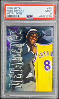 Kobe Bryant 1996-97 Fleer Metal Edge #15 PSA 9 MINT RC Rookie LOW POP 30 Lakers