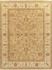 Presidential Beige 9x12 Peshawar Oushak Oriental Area Rug Hand-Knotted Carpet