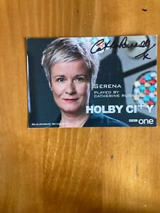 Catherine  Russell,,( Holby City) Signed Cast Card