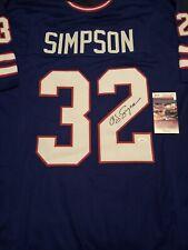O.J. Simpson Signed Custom Jersey! JSA Certified & Witnessed