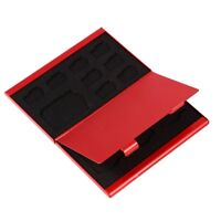 Holder Micro Holders Card 12TF Aluminum Storage Box Memory Card Case Box  Red