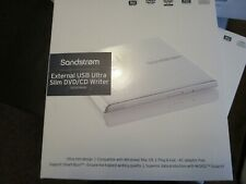 DVD  writer external usb slim Sandstrom SEDVDWH18 in white