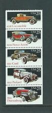 Cat no. 2381-2385 Clasic Automobiles Booklet pane, Mint NH blkt. pane of 5stamps