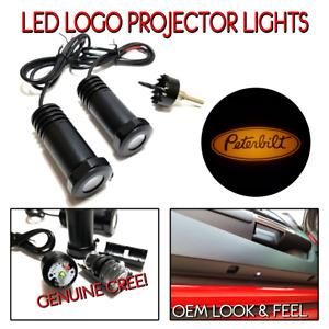 Lumenz C3 LED Courtesy Logo Lights Ghost Shadow for Peterbilt 100648 Amber