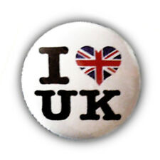 Badge I ♥ LOVE UK british drapeau anglais flag gb london Rock Punk culte Ø25mm