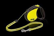 Flexi Retráctil Neon Correa Perro,Ch correa,Cordel 5m,para un perro hasta 12 kg